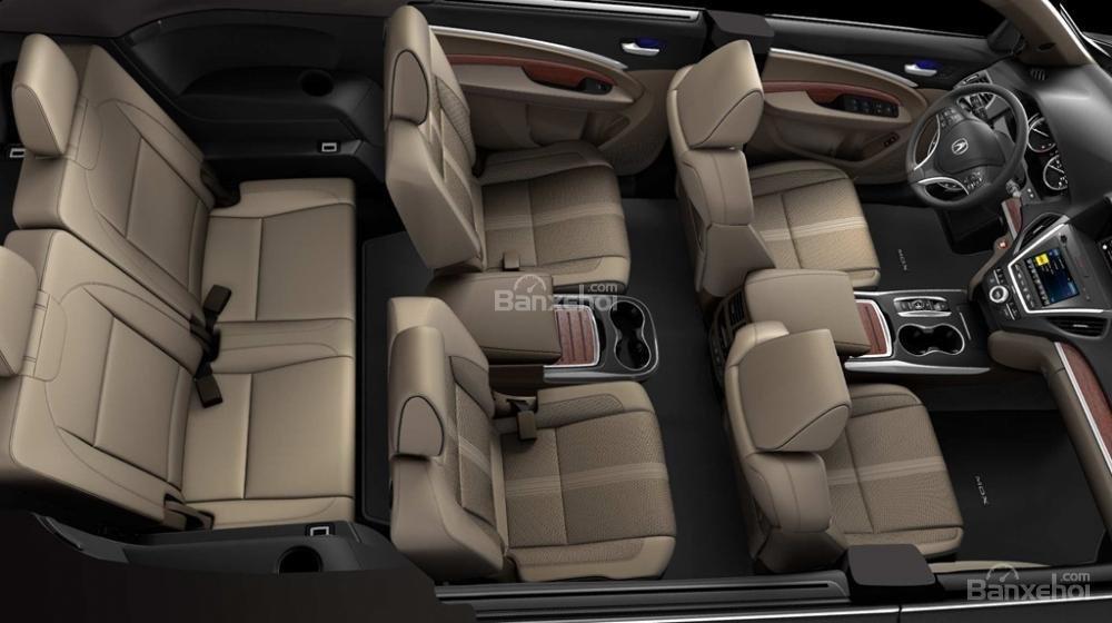 Đánh giá xe Acura MDX 2018: Hệ thống ghế ngồi bọc da tiêu chuẩn.