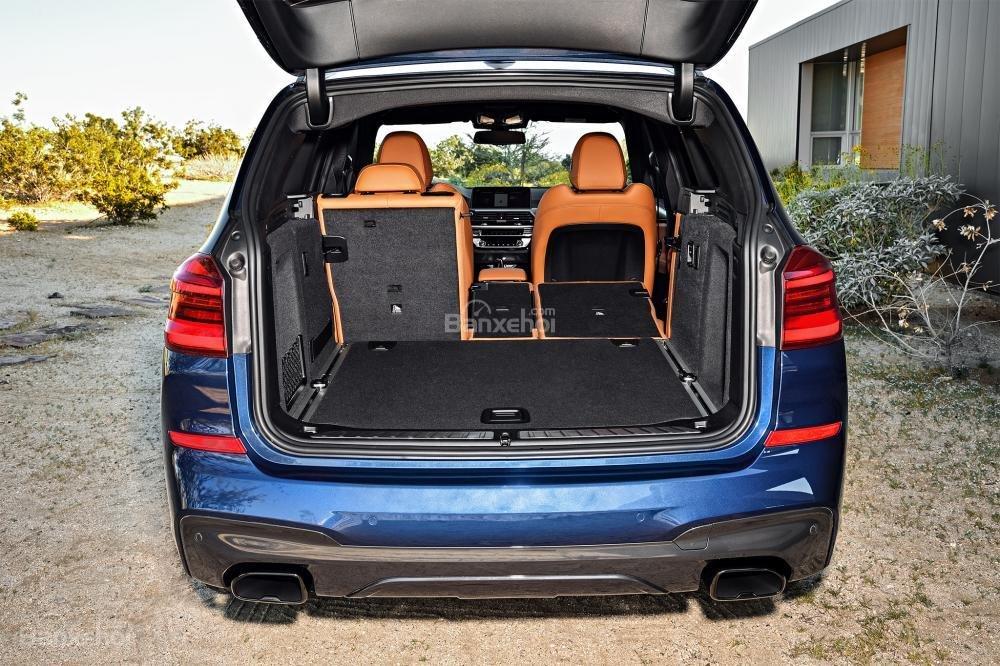 Đánh giá xe BMW X3 2018 về khoang hành lý a2