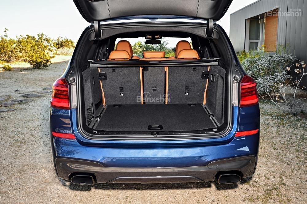 Đánh giá xe BMW X3 2018 về khoang hành lý a1