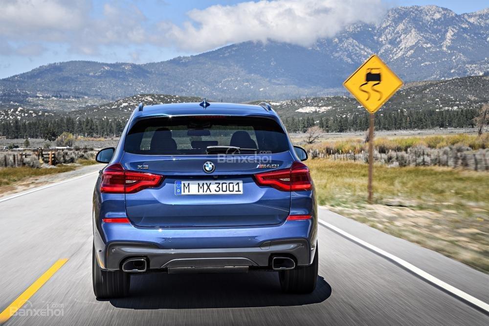 Đuôi xe BMW X3 2018