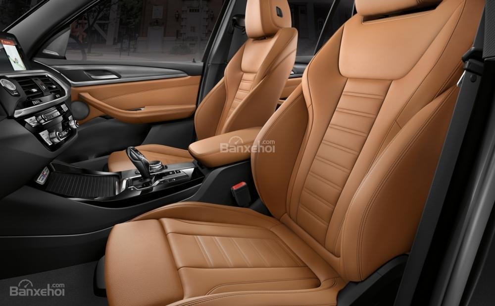 Đánh giá xe BMW X3 2018: Hệ thống ghế ngồi thiết kế hút mắt.