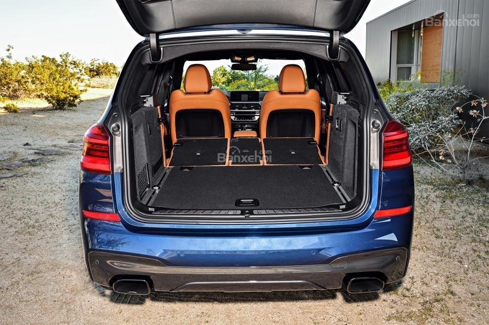Đánh giá xe BMW X3 2018 về khoang hành lý a3