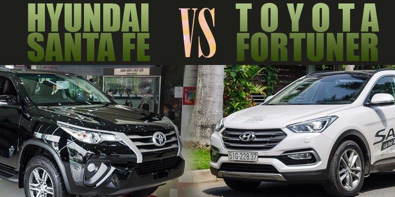 Hyundai Santa Fe 2017 và Toyota Fortuner 2017: Xe Hàn thắng chật vật.