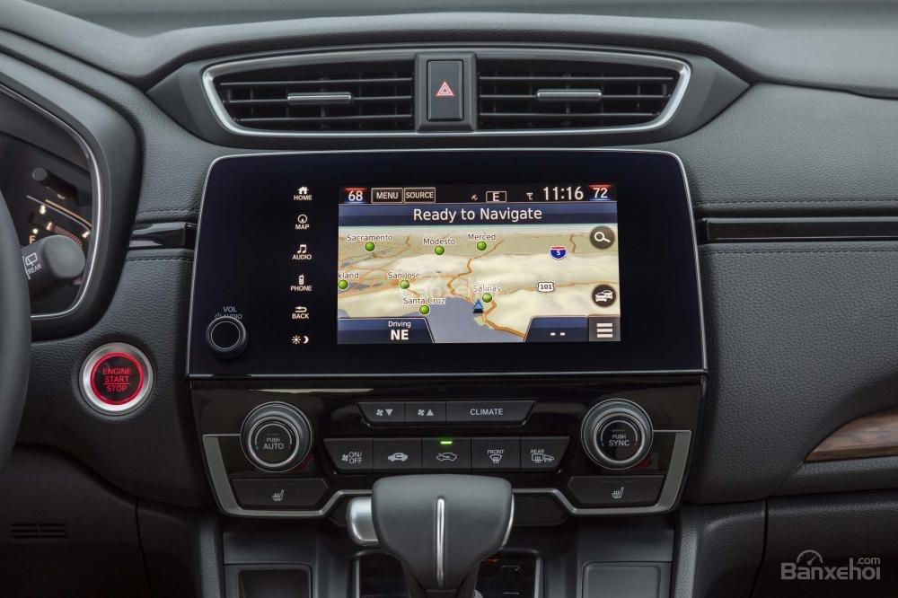 Màn hình cảm ứng trung tâm trên Honda CR-V 2018