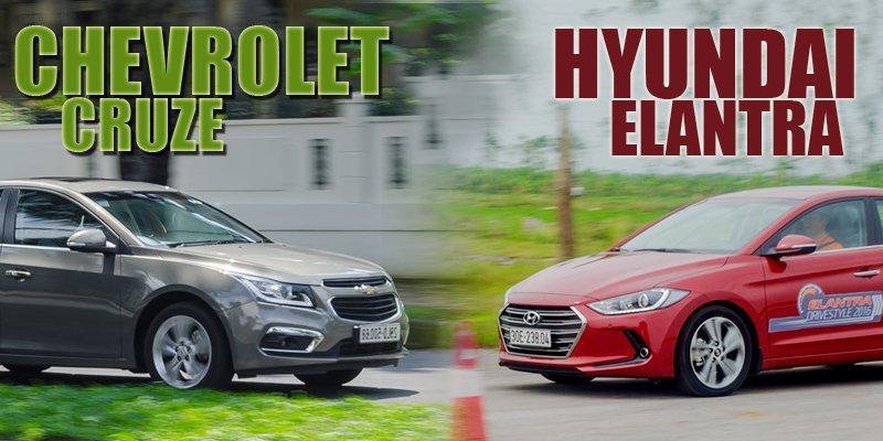 Mua xe gia đình 600 triệu, nên chọn Hyundai Elantra 2018 hay Chevrolet Cruze 2018?.