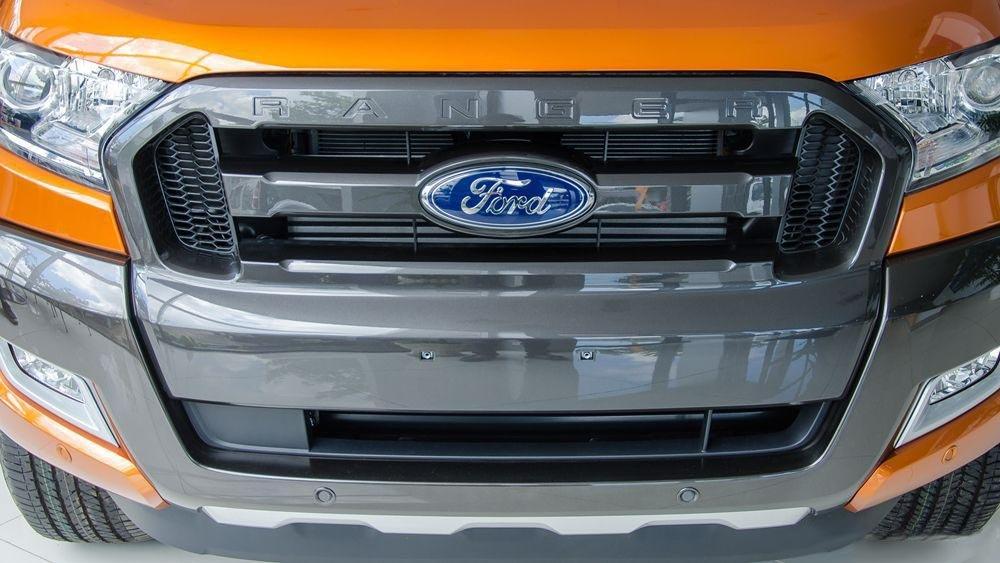 Ảnh chụp lưới tản nhiệt xe Ford Ranger Wildtrak 2018