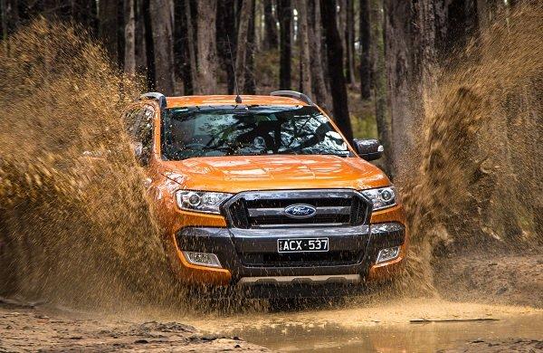 Ảnh chụp đầu xe Ford Ranger Wildtrak 2018