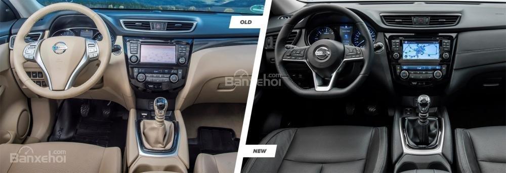 So sánh thiết kế vô lăng của Nissan X-Trail 2018 với bản trước đó/