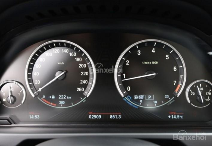 Đánh giá xe BMW X5 2017-2018: Cụm đồng hồ trên xe.