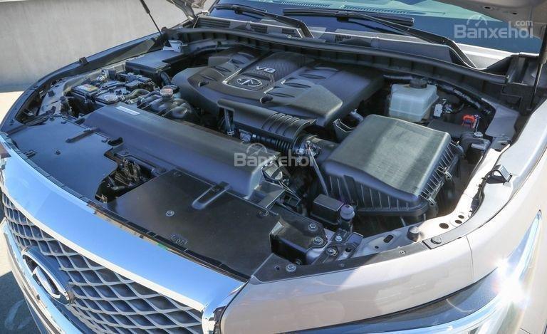 Đánh giá xe Infiniti QX80 2018: Giữ nguyên động cơ.