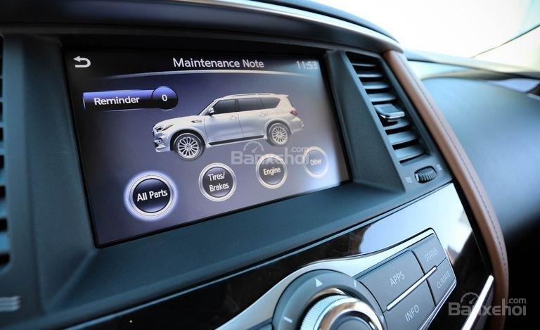 Đánh giá xe Infiniti QX80 2018 được trang bị nhiều tính năng tiêu chuẩn.