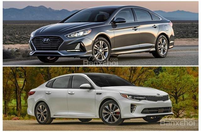 So sánh xe Hyundai Sonata 2018 và Kia Optima 2018: Chọn sedan cỡ trung nào