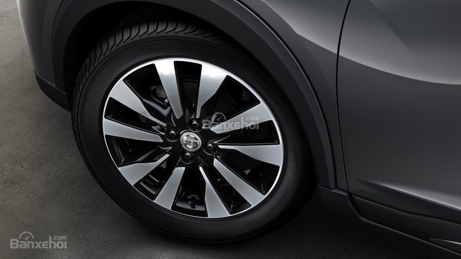 Đánh giá xe Nissan Kicks 2018: Mâm hợp kim.