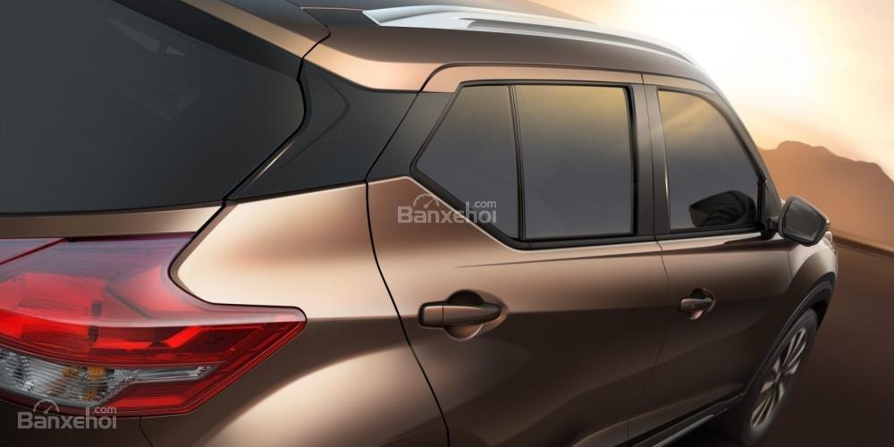 Đánh giá xe Nissan Kicks 2018: Thiết kế đuôi xe.