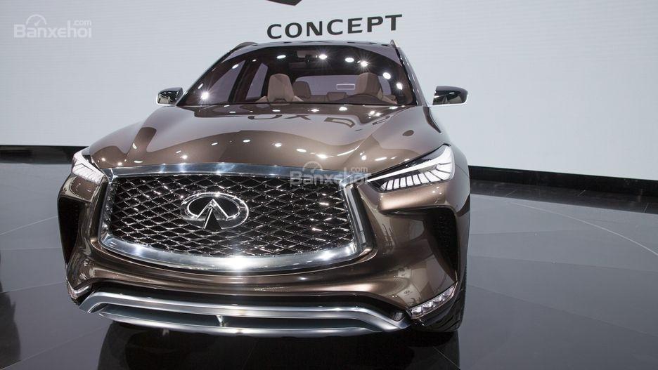 Đánh giá xe Infiniti QX50: Thiết kế đầu xe.