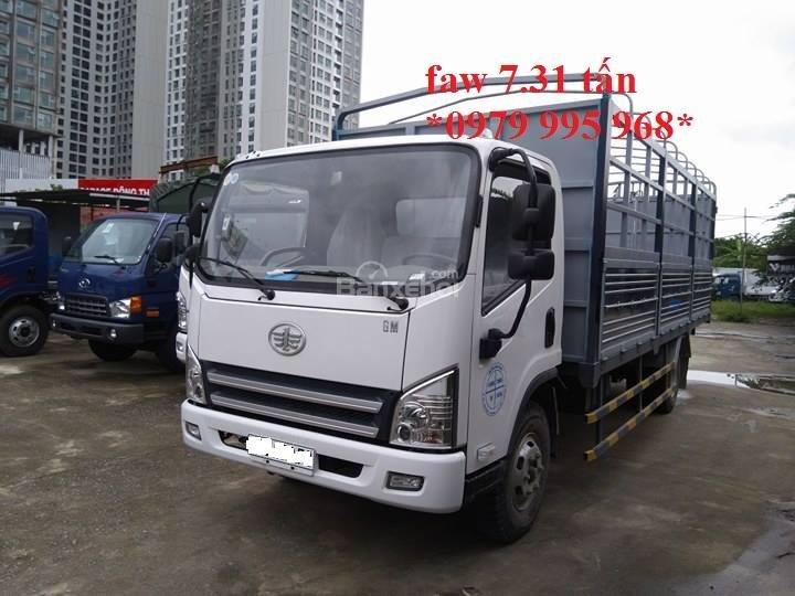 Bán xe tải Faw 7,31 tấn, thùng mui bạt dài 6,25m, cabin hiện đại-0