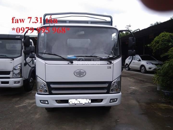 Bán xe tải Faw 7,31 tấn, thùng mui bạt dài 6,25m, cabin hiện đại-1