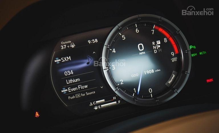 Đánh giá xe Lexus LC 2018: Cụm đồng hồ.