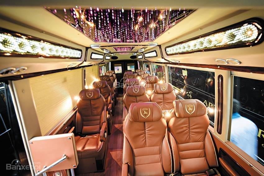 Bán Fuso Rosa Dcar sản xuất 2017, bản độ Limousine 19 chỗ, biển Hà Nội-9