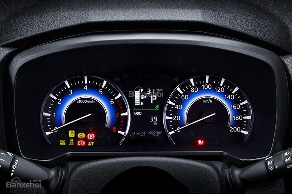 Đánh giá xe Toyota Rush 2018: Cụm đồng hồ.