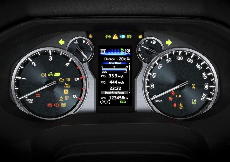 Đồng hồ lái trên xe Toyota Land Cruiser Prado 2018