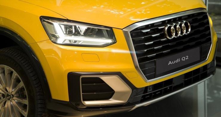 Ảnh chụp lưới tản nhiệt xe Audi Q2 2018