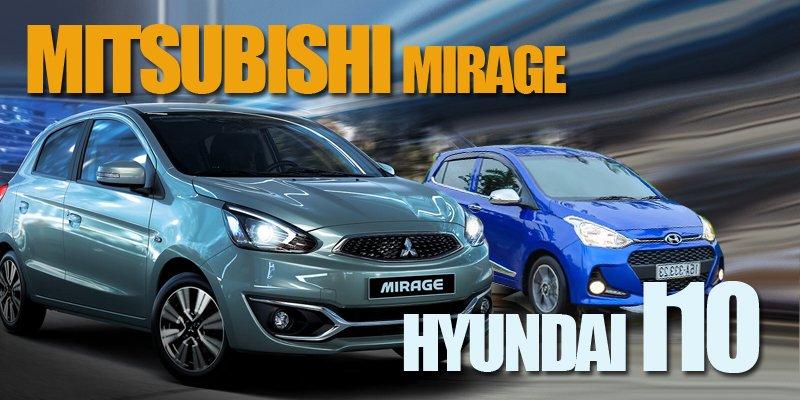 """Mua ô tô chơi tết giá 400 triệu, Hyundai Grand i10 hay Mitsubishi Mirage """"ngon"""" hơn?."""