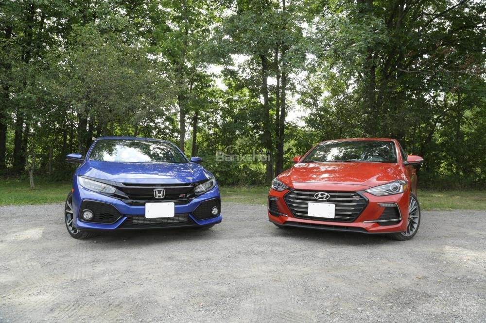 So sánh xe Honda Civic Si 2018 và Hyundai Elantra Sport 2018