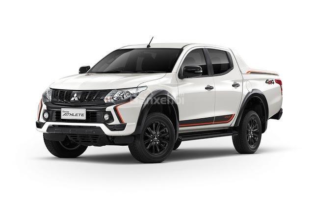 Đánh giá xe Mitsubishi Triton Athlete 2018: Ngoại thất trắng.