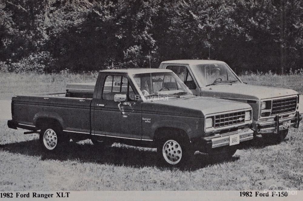 Ford Ranger và Ford F-150 lần đầu tiên ra mắt toàn cầu năm 1982 .