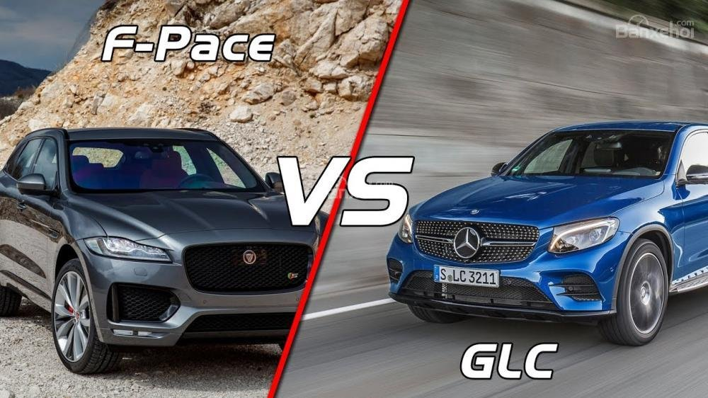 So sánh xe Mercedes Benz GLC Class 2018 vs Jaguar F-Pace 2018.