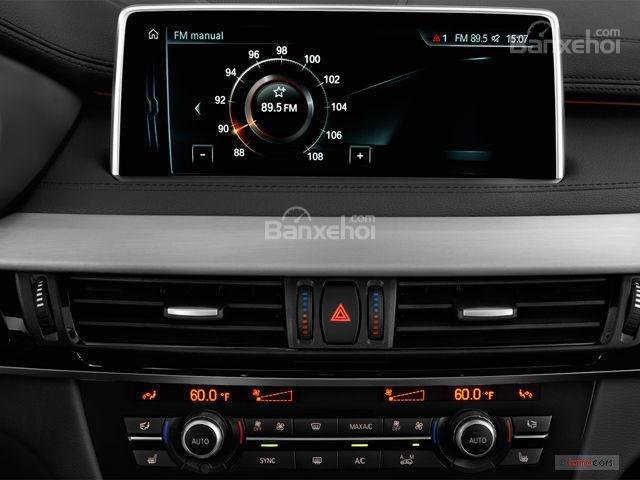 Đánh giá xe BMW X6 2018: màn hình hệ thống radio 1