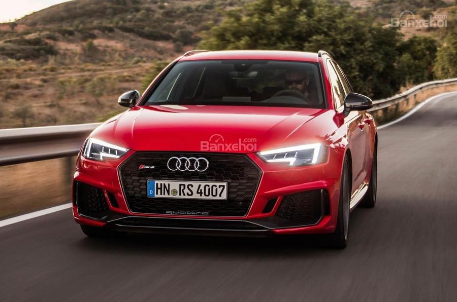 Đánh giá xe Audi RS4 Avant 2018: Đầu xe.
