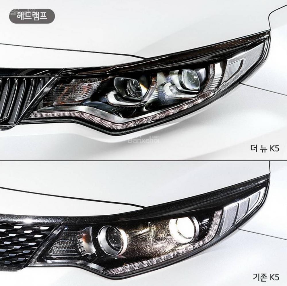 So sánh sự khác biệt giữa thiết kế của Kia Optima/ K5 thế hệ mới và cũ.