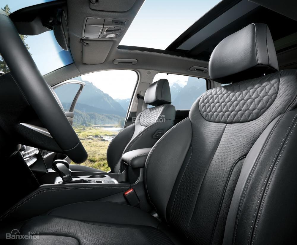 Cửa sổ trời toàn cảnh xe Hyundai Santa Fe 2019-2020