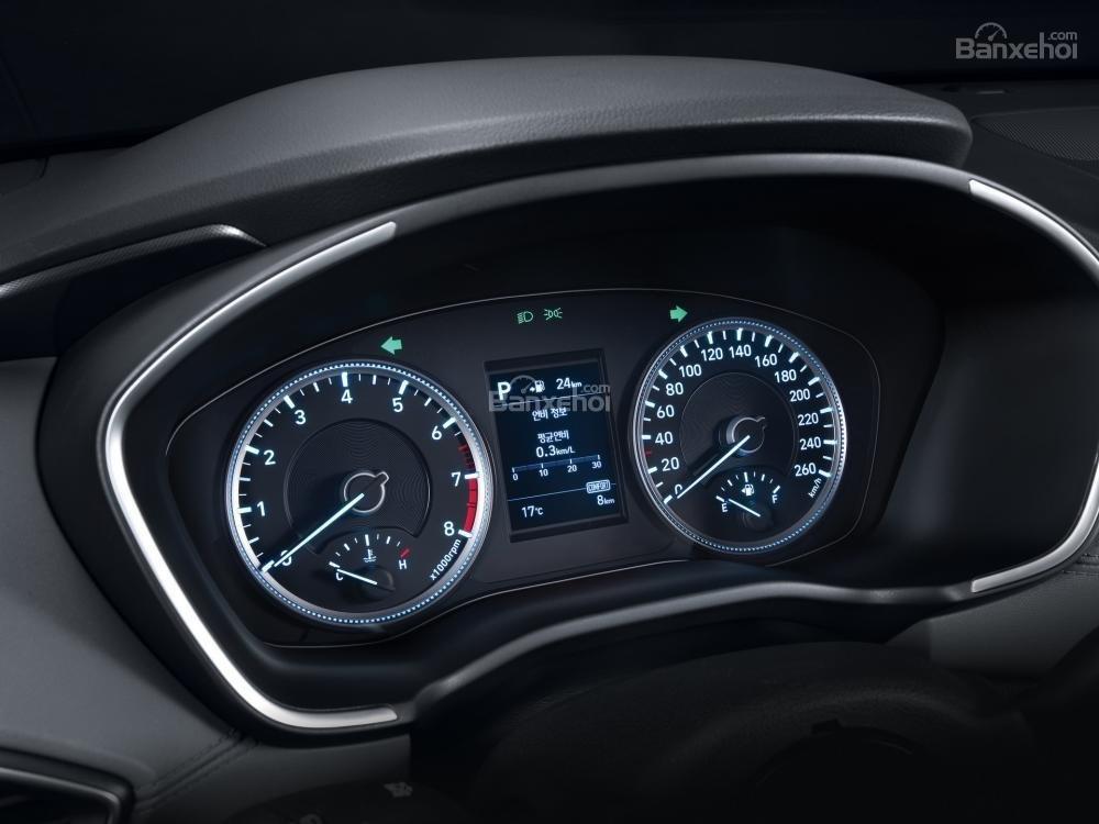 Đánh giá xe Hyundai Santa Fe 2019-2020 về cụm đồng hồ lái a1