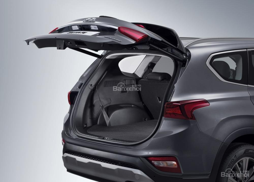Đánh giá xe Hyundai Santa Fe 2019-2020 về khoang hành lý.
