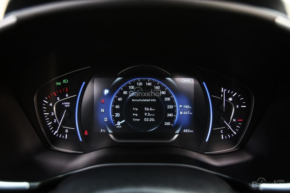 Đánh giá xe Hyundai Santa Fe 2019-2020 về cụm đồng hồ lái a3
