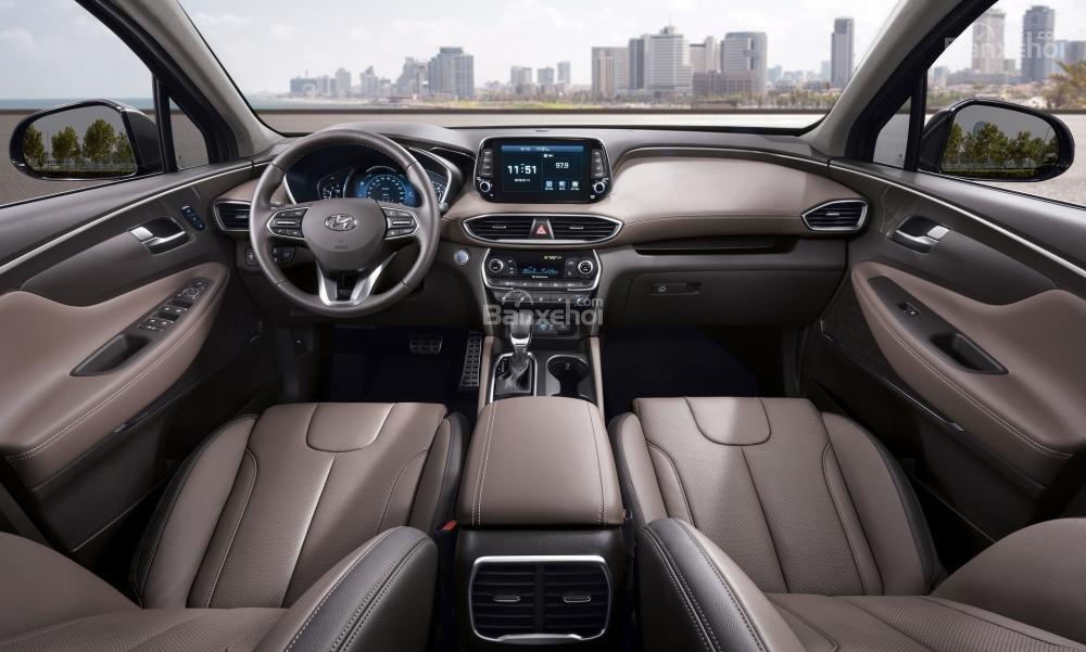 Đánh giá xe Hyundai Santa Fe 2019-2020 về khoang nội thất.