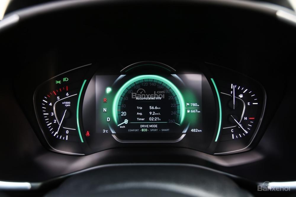 Đánh giá xe Hyundai Santa Fe 2019-2020 về cụm đồng hồ lái a2