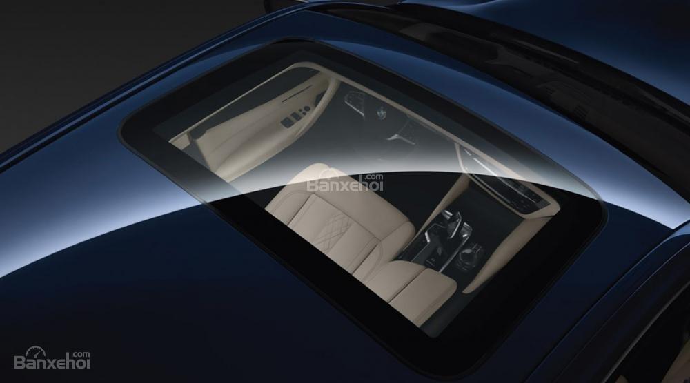 Đánh giá xe BMW 5-Series 2018: Cửa sổ trời.