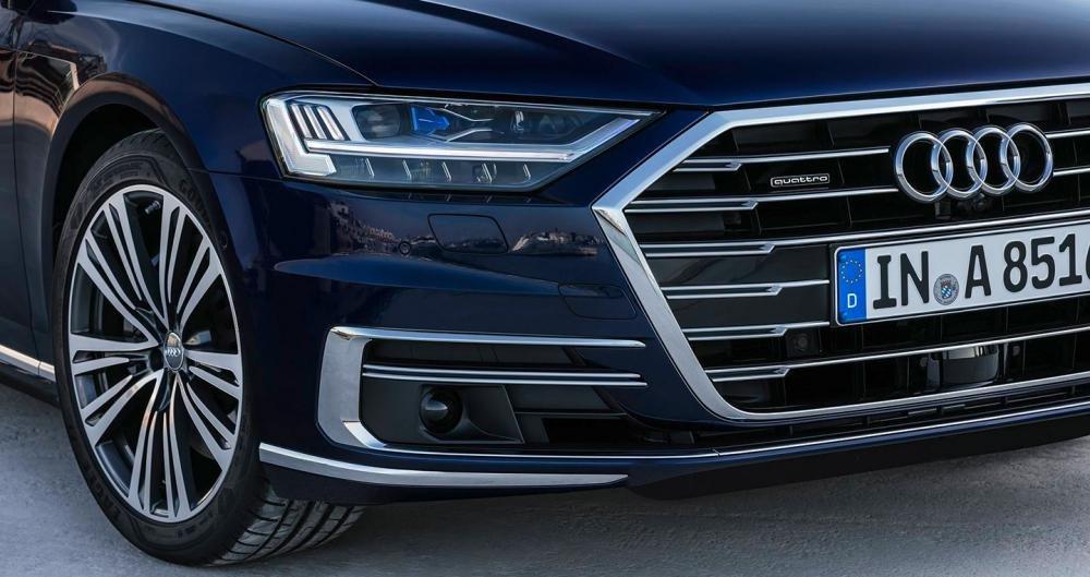 Ảnh chụp lưới tản nhiệt xe Audi A8 2018