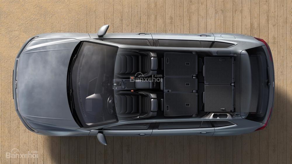 Đánh giá xe Volkswagen Tiguan Allspace 2018: Hàng ghế 2+3 có thể gập phẳng/.