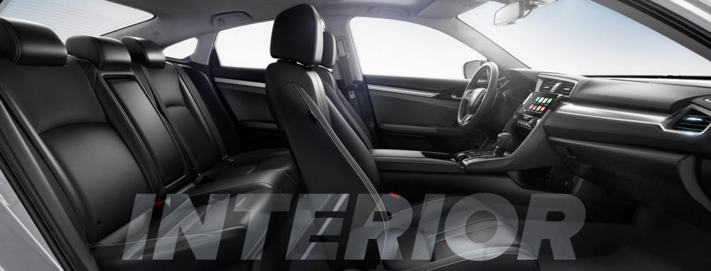 Ảnh chụp ghế ngồi xe Honda Civic 1.8E 2018