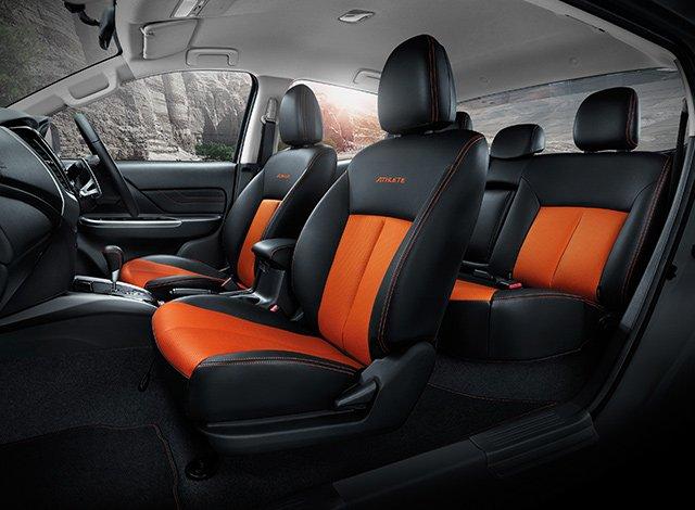 So sánh xe Mitsubishi Triton Athlete 2018 và Ford Ranger Wildtrak 2018 về ghế ngồi 3