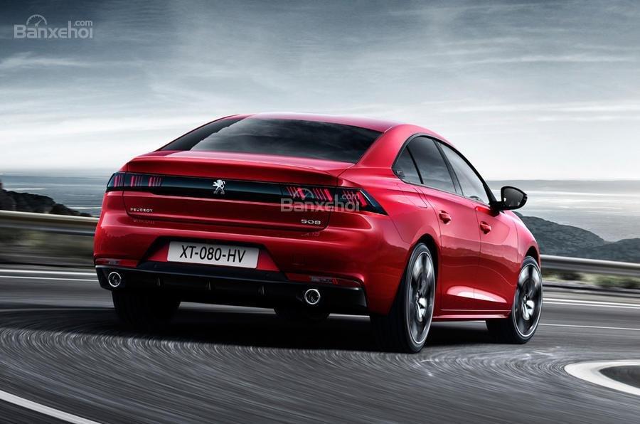 Đánh giá xe Peugeot 508 2019: Đuôi xe.