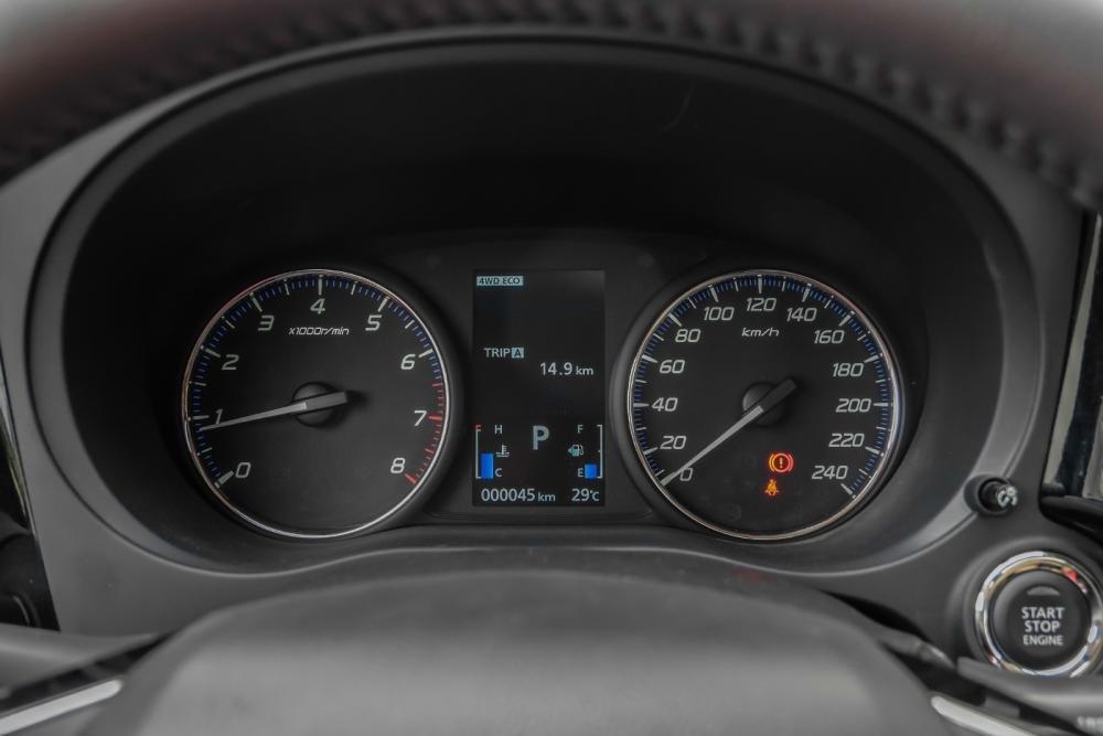 Ảnh chụp cụm đồng hồ xe Mitsubishi Outlander 2018 bản 7 chỗ
