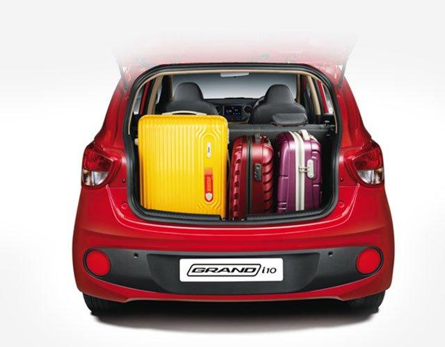 So sánh Suzuki Celerio 2018 và Hyundai Grand i10 2018 về khoang hành lý 2