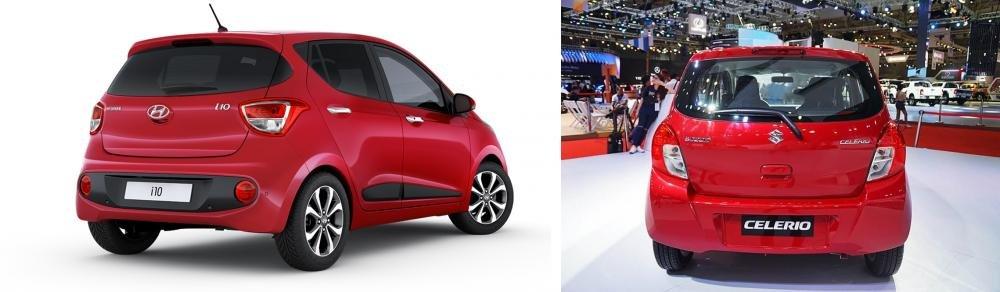 So sánh Suzuki Celerio 2018 và Hyundai Grand i10 2018 về đuôi xe
