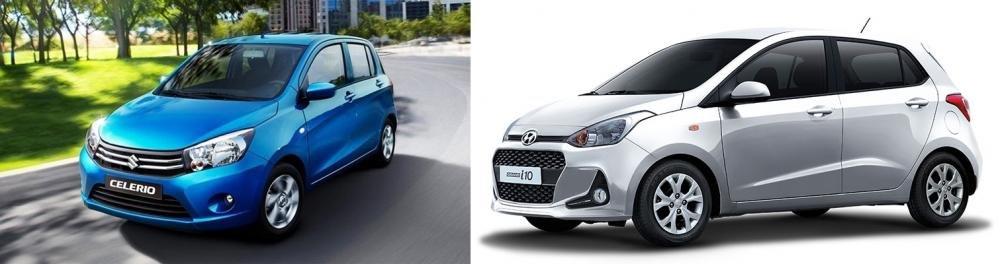 So sánh Suzuki Celerio 2018 và Hyundai Grand i10 2018 về thiết kế